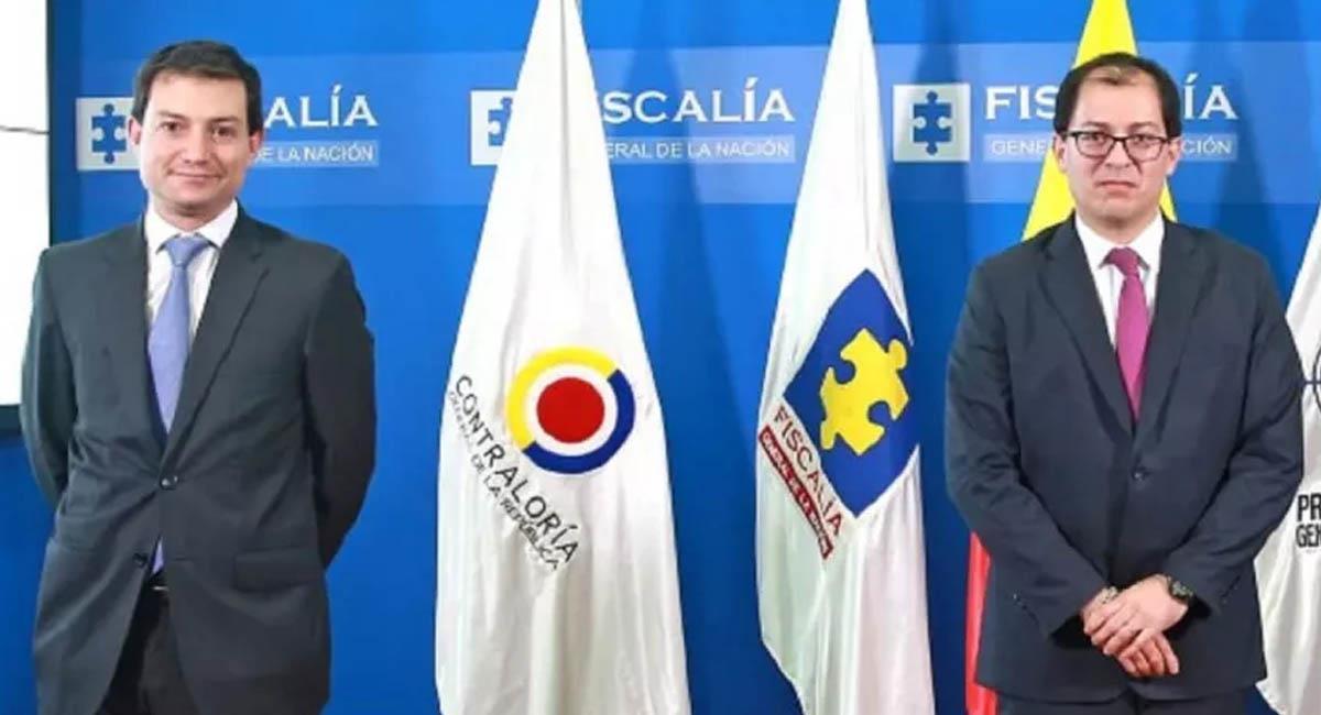 Carlos Córdoba (i), contralor general, y Francisco Barbosa (d), fiscal general de la Nación. Foto: Fiscalía General