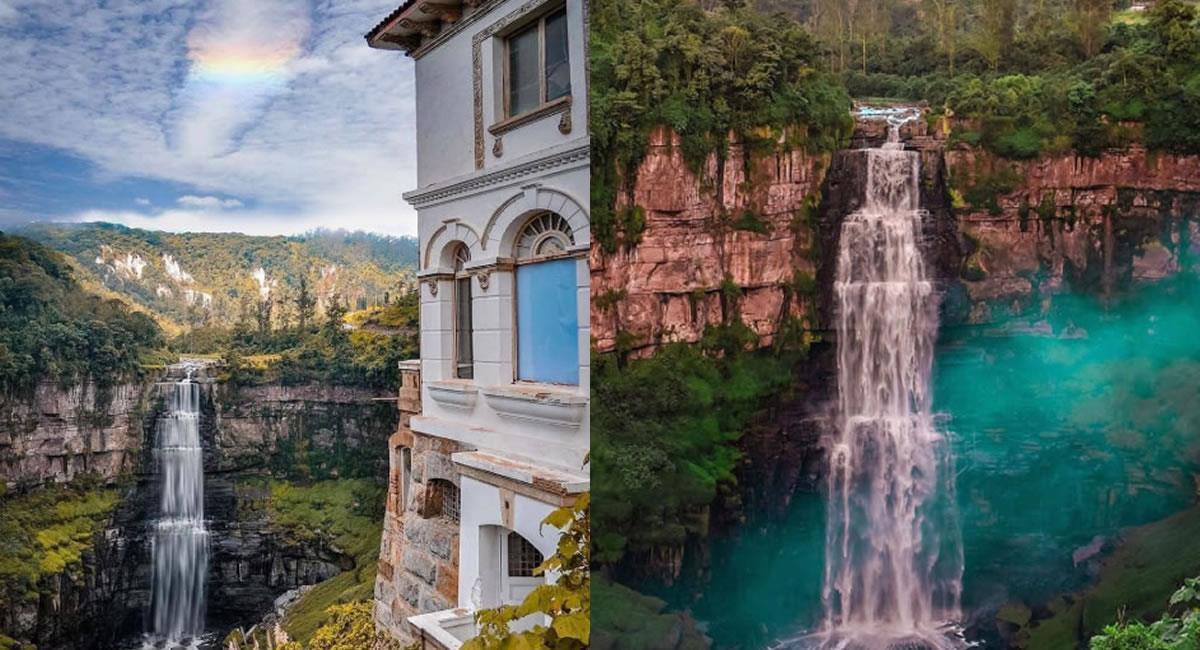 Si aún no has visitado esta enigmática cascada de Cundinamarca, debes hacerlo algún día. Foto: Twitter @ColDesconocida