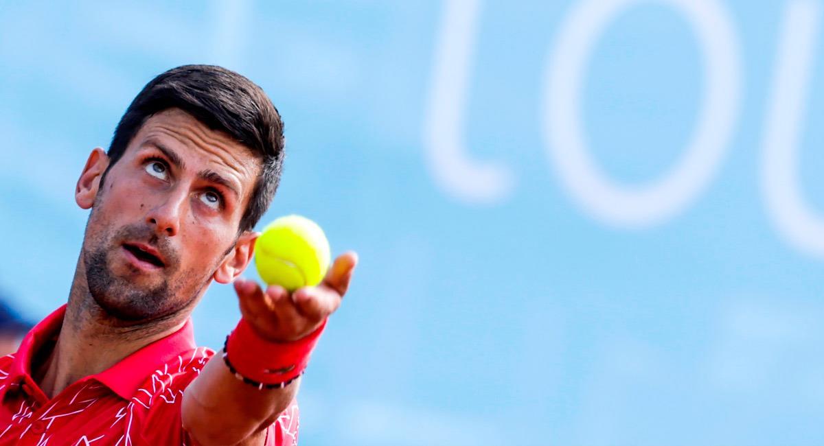 Novak Djokovic, tenista serbio que se contagió en días pasados con el nuevo coronavirus. Foto: EFE