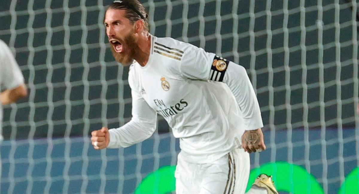 Sergio Ramos anotó de penal el único gol del encuentro. Foto: EFE