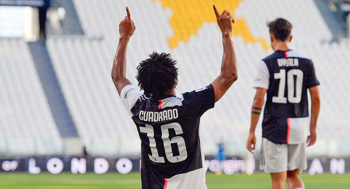 Cuadrado sigue siendo uno de los mejores jugadores de Juventus. Foto: Twitter @juventusfces