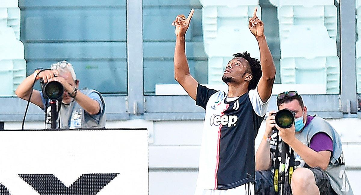 Juan Guillermo Cuadrado marcó un golazo ante Torino. Foto: EFE