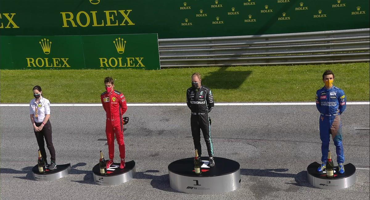 Valtteri Bottas de Mercedes, primer ganador en el regreso de la F1. Foto: Twitter Prensa redes F1