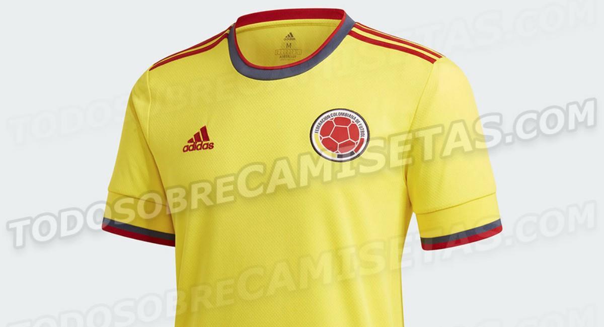 Nueva camiseta de la Selección Colombia. Foto: Twitter Prensa redes 'Todo Sobre Camisetas'