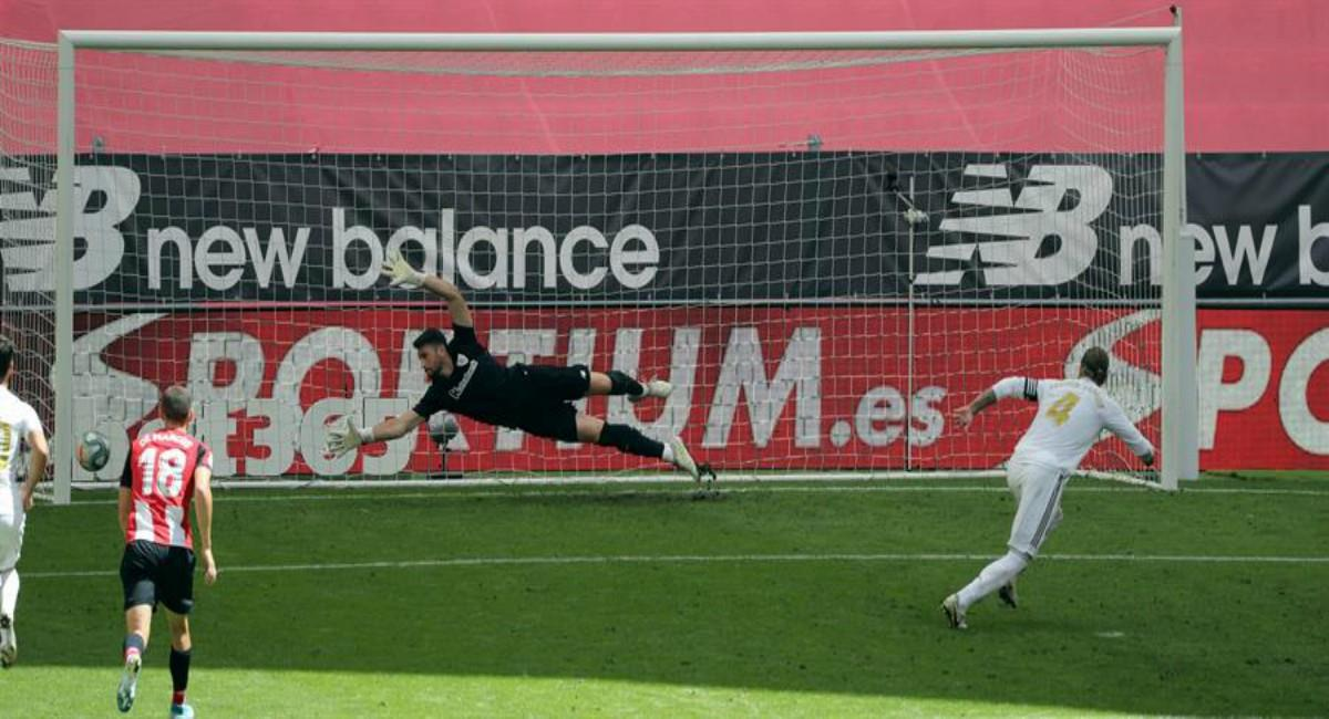 Sergio Ramos le dio la victoria a Real Madrid. Foto: EFE