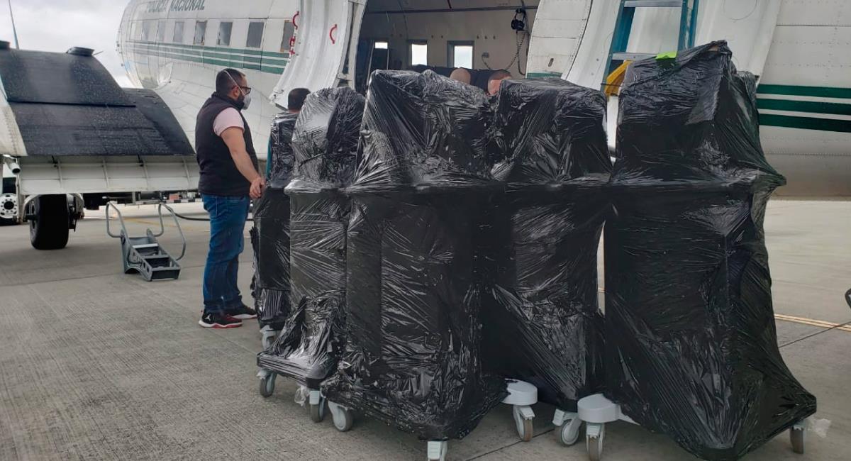 Gobierno sigue entregando ventiladores. Foto: Twitter @MinSaludCol
