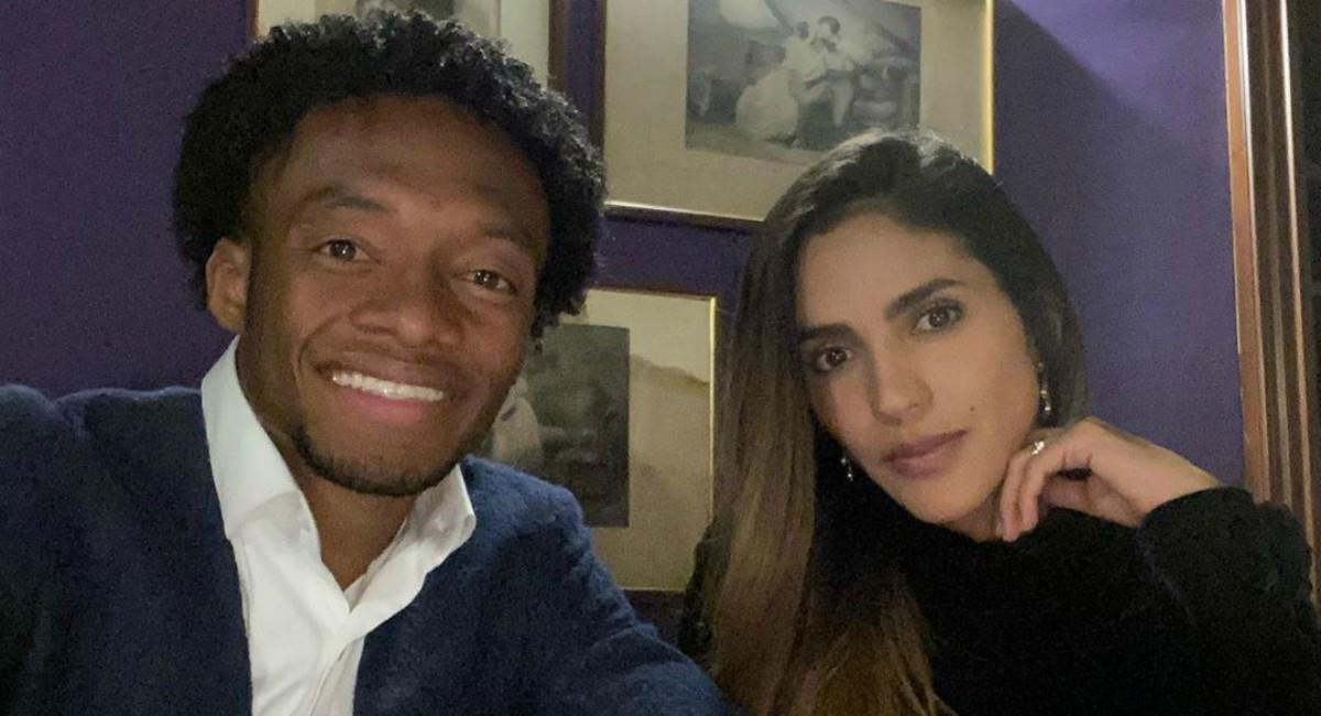 Emotivo mensaje de Cuadrado a su esposa. Foto: Instagram Prensa redes Juan Cuadrado