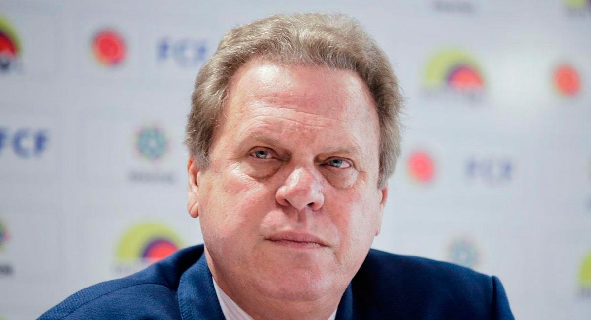 Ramón Jesurún, presidente de la Federación Colombiana de Fútbol. Foto: Prensa FCF