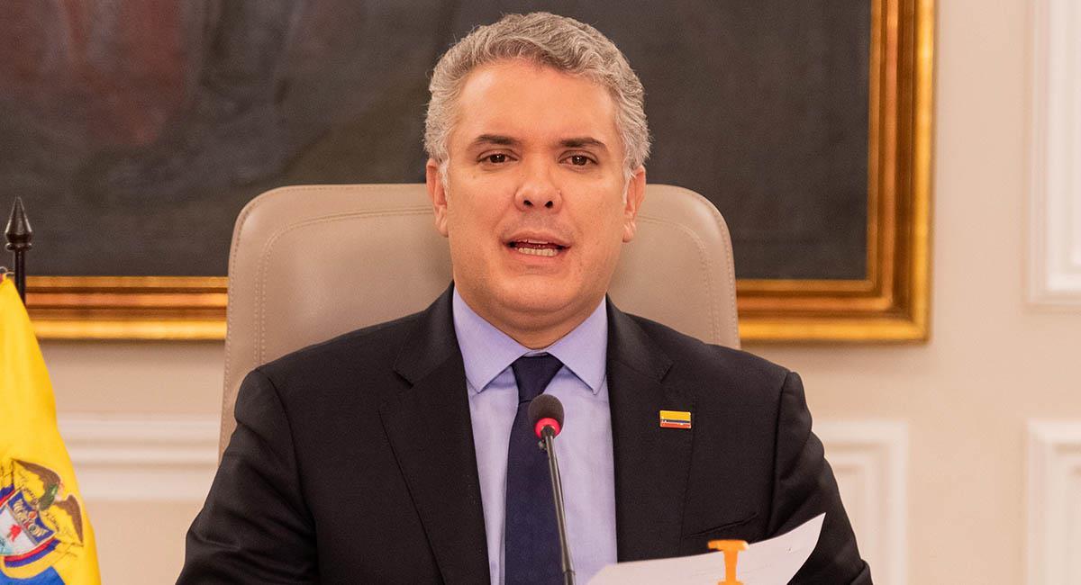 Iván Duque, durante su programa 'Prevención y Acción'. Foto: Presidencia Colombia