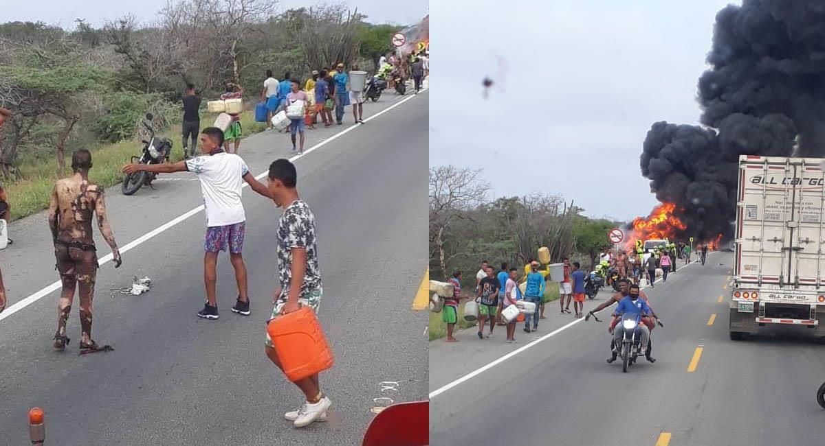 Son al menos diez las personas que perdieron la vida tras este siniestro. Foto: Twitter / @eldocho3 - @fabian_bolano