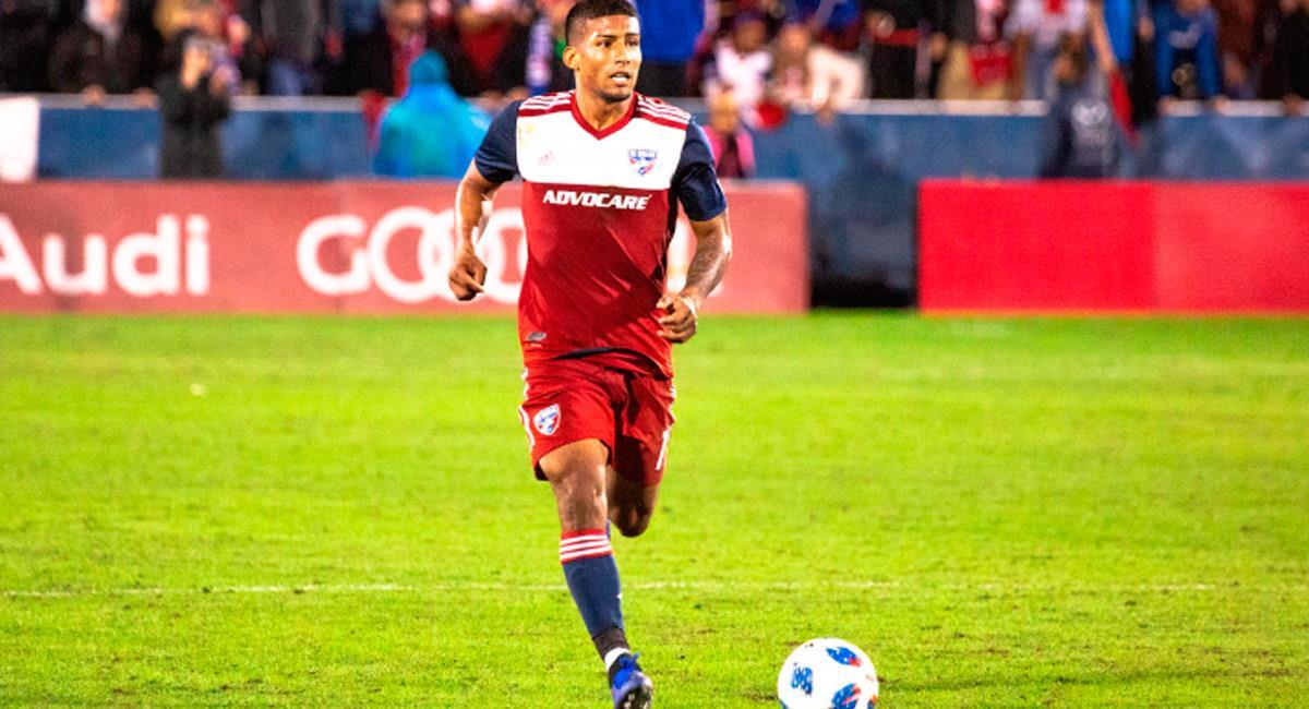 Santiago Mosquera, jugador colombiano en FC Dallas. Foto: Prensa FC Dallas