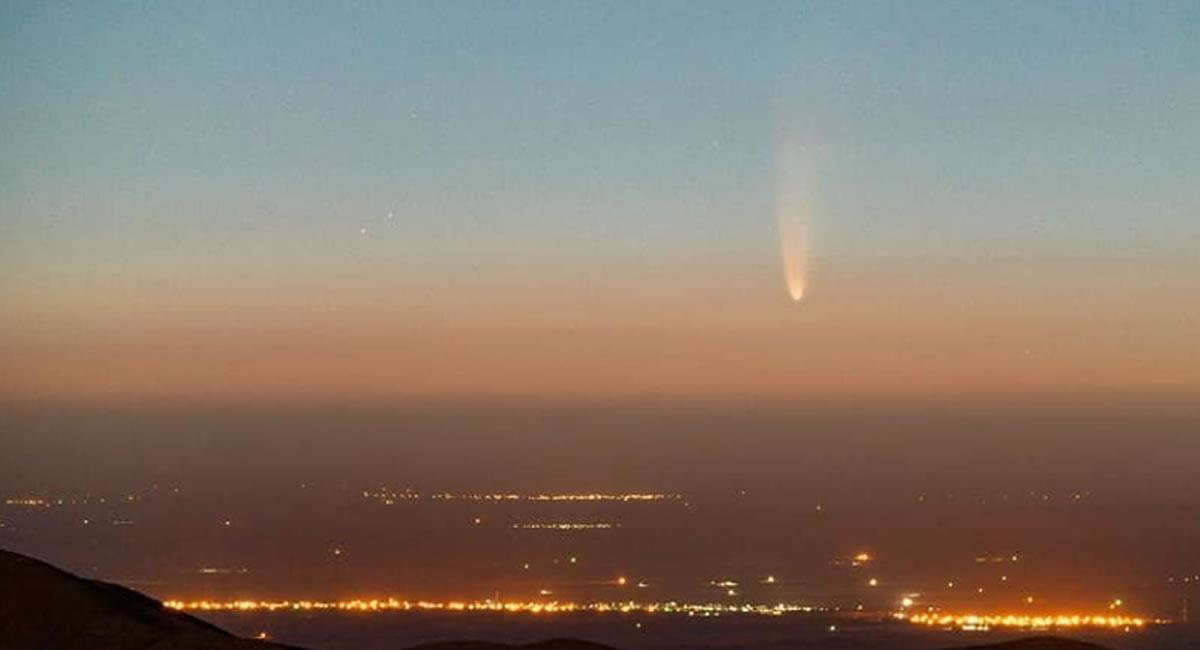 Este sería el tercer cometa que descubren los expertos en la Galaxia durante este 2020. Foto: Twitter @Asalmendez