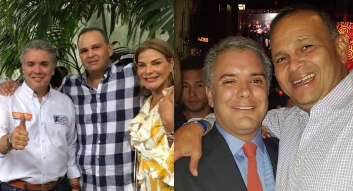 La amistad entre Iván Duque y el 'Ñeñe' ha sido tema de polémica en Colombia. Foto: Twitter / @Baldor2014 - @Cjotavillegas