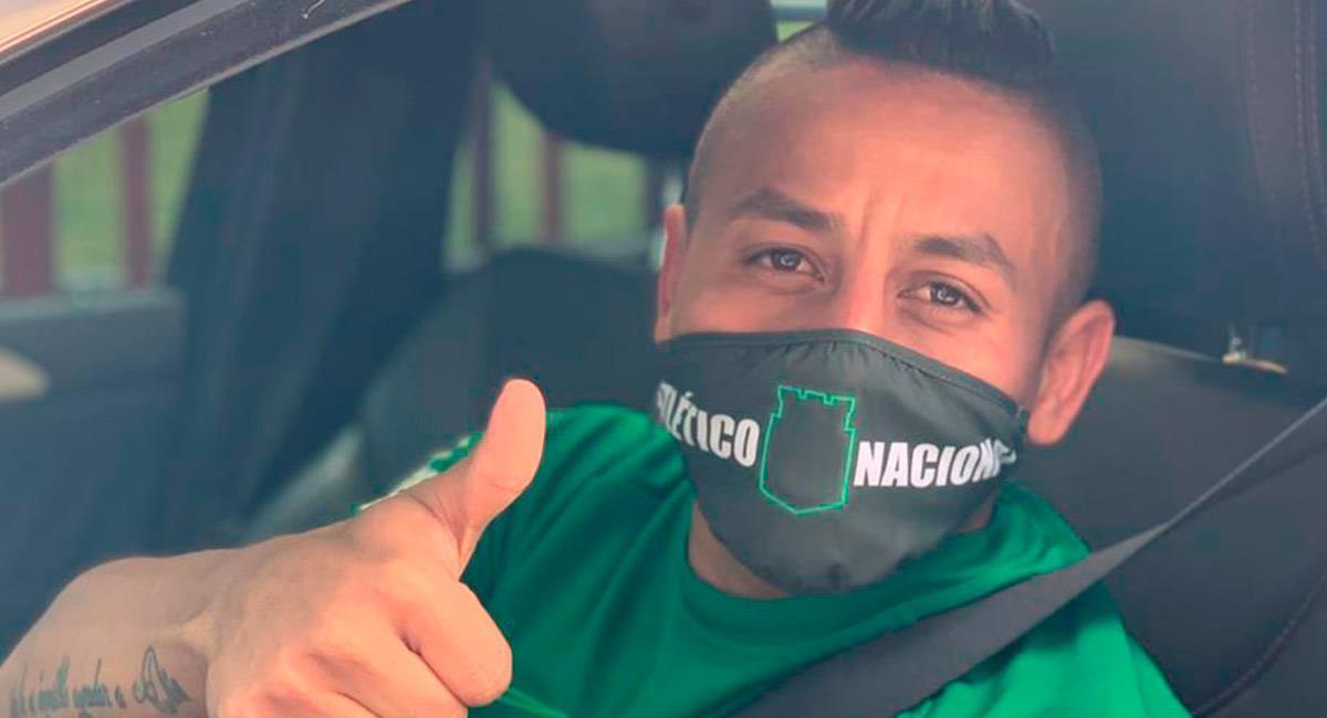 Vladimir Hernández llega a entrenar con el equipo 'verdolaga'. Foto: Prensa Atlético Nacional