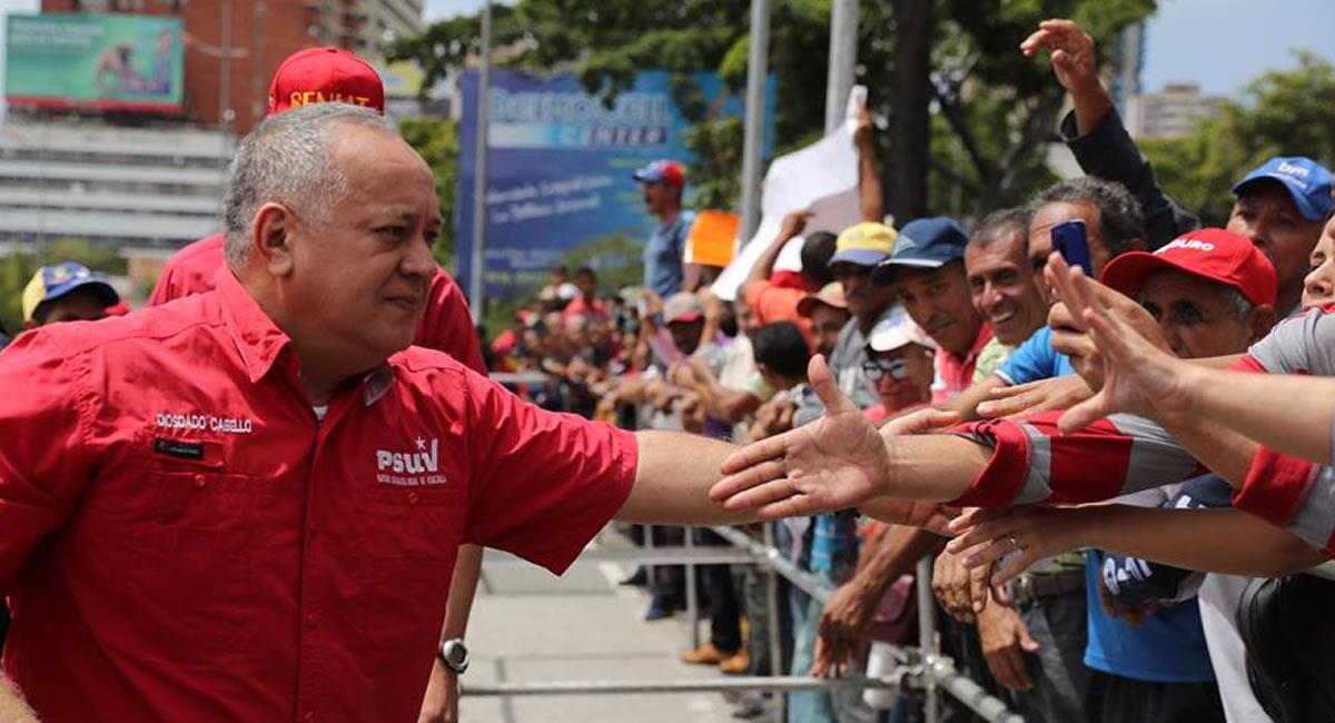 Diosdado Cabello y un gobernador oficialista dieron positivo para el COVID-19. Foto: EFE