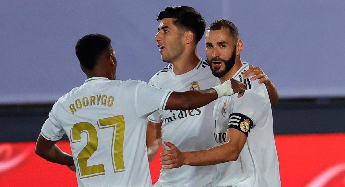 Karim Benzema y Marco Asensio marcaron los goles de Real Madrid. Foto: EFE
