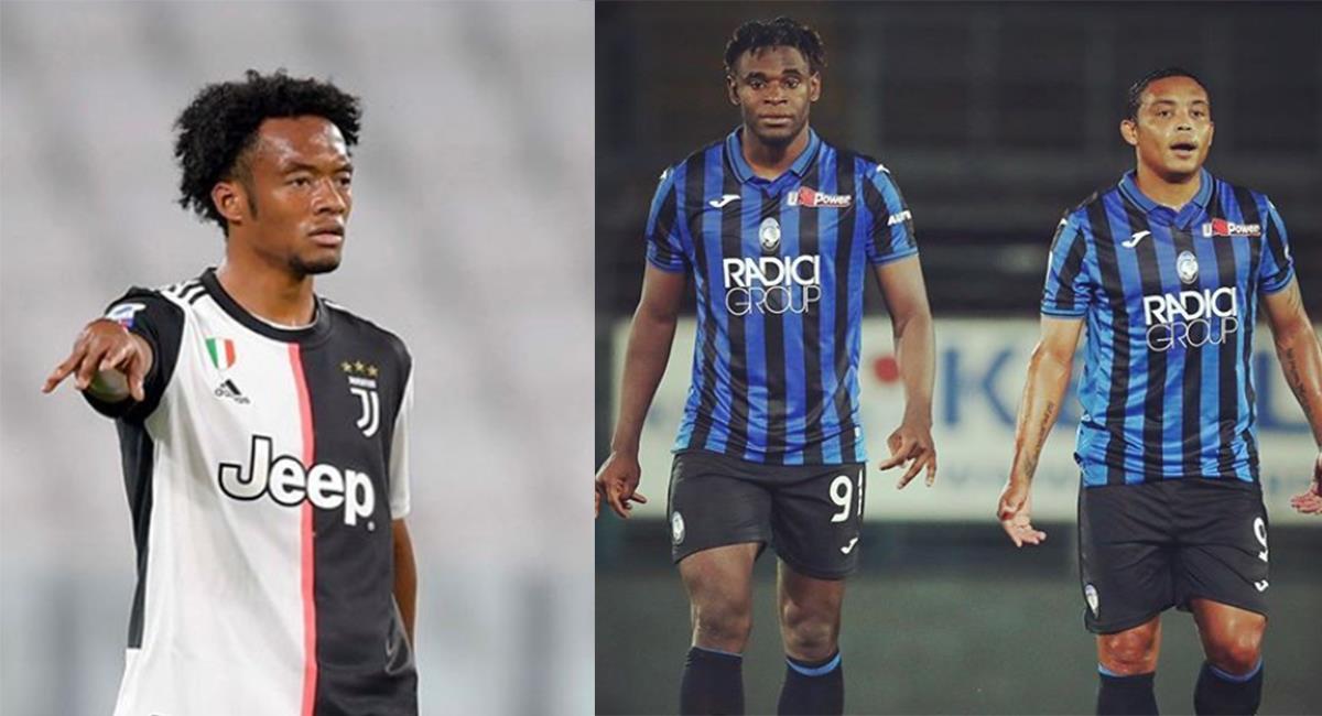 Cuadrado, Zapata y Muriel son claves en Juventus y Atalanta. Foto: Instagram @luisfmuriel9 y @cuadrado