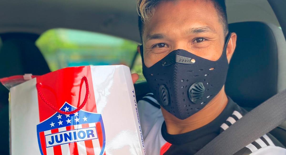 Teófilo Gutiérrez, jugador del club barranquillero. Foto: Twitter @JuniorClubSA