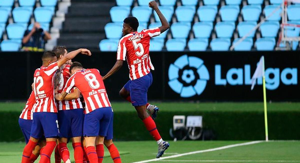 Santiago Arias ingresó en el minuto 42. Foto: Prensa Atlético de Madrid