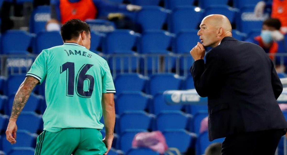 Zidane felicitó a James por el cumpleaños. Foto: EFE