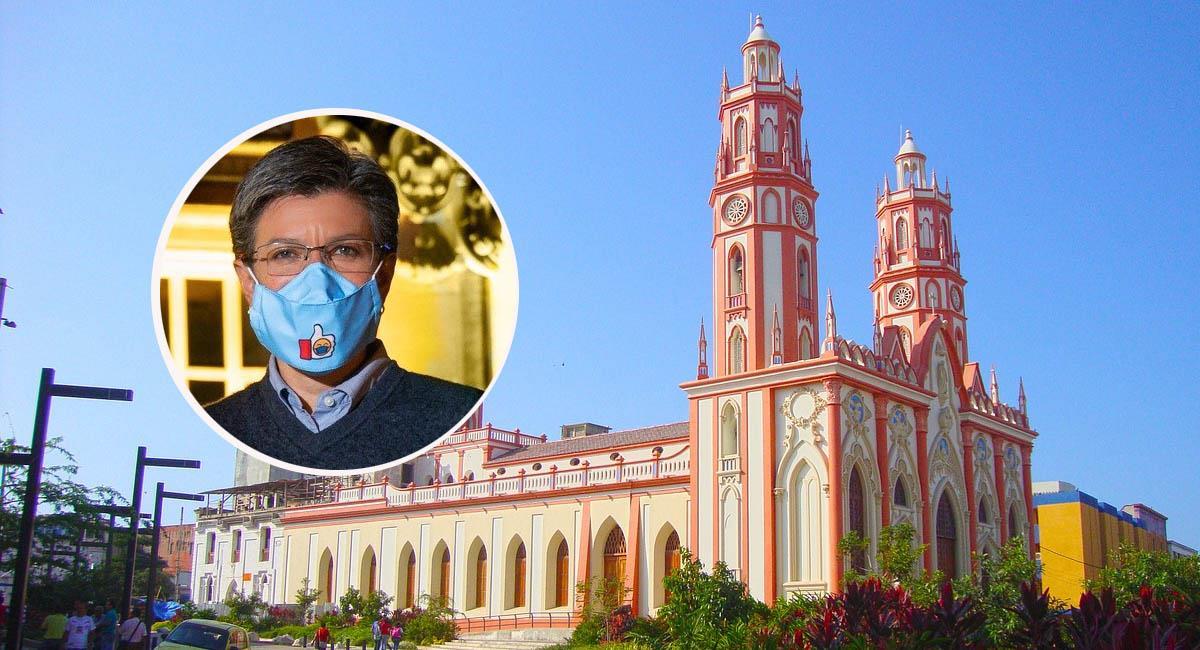 Claudia López no ve con buenos ojos la reapertura de las iglesias. Foto: Pixabay / Twitter: @ClaudiaLopez