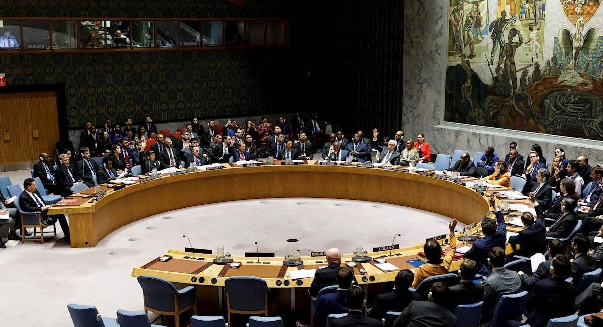Es la primera vez que el Consejo de Seguridad de la ONU se reúne en físico, desde marzo. Foto: EFE