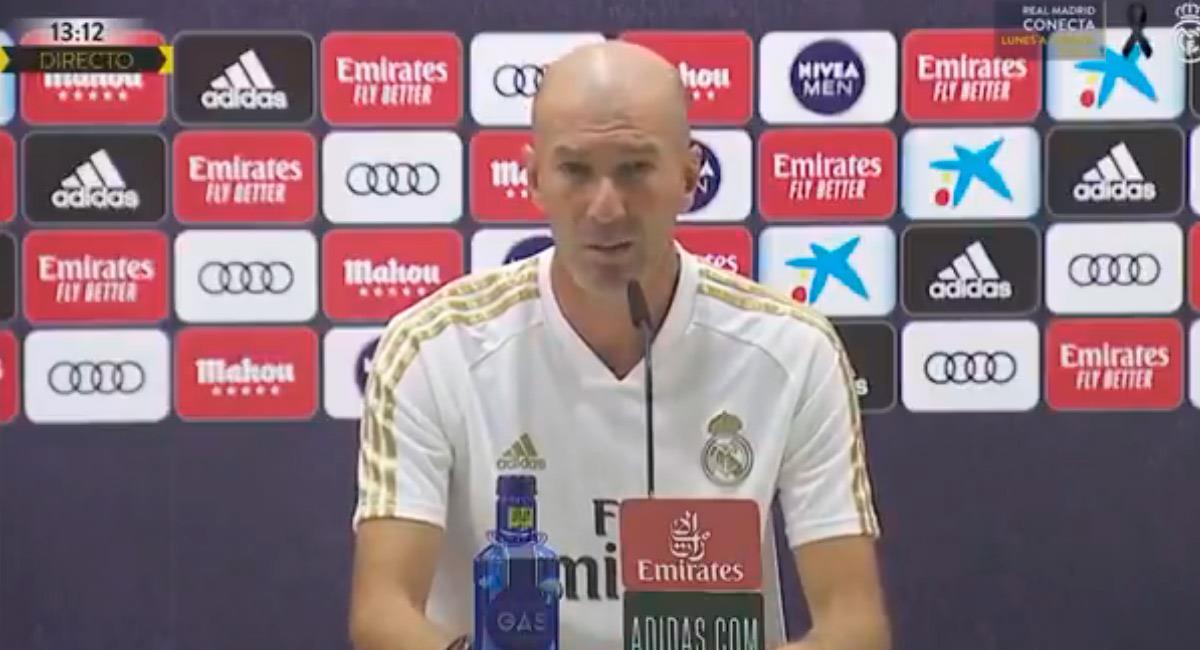 Zidane en la última rueda de prensa. Foto: Prensa Real Madrid