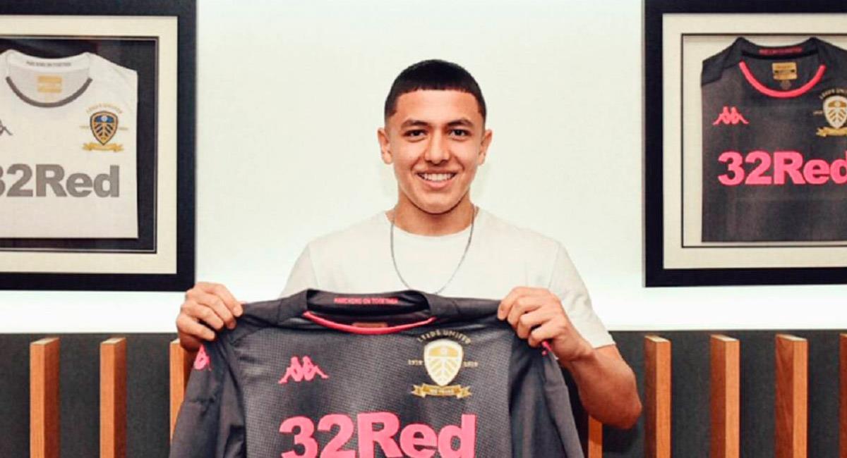 Ian Poveda, jugador colombiano en Leeds United. Foto: Prensa Leeds United
