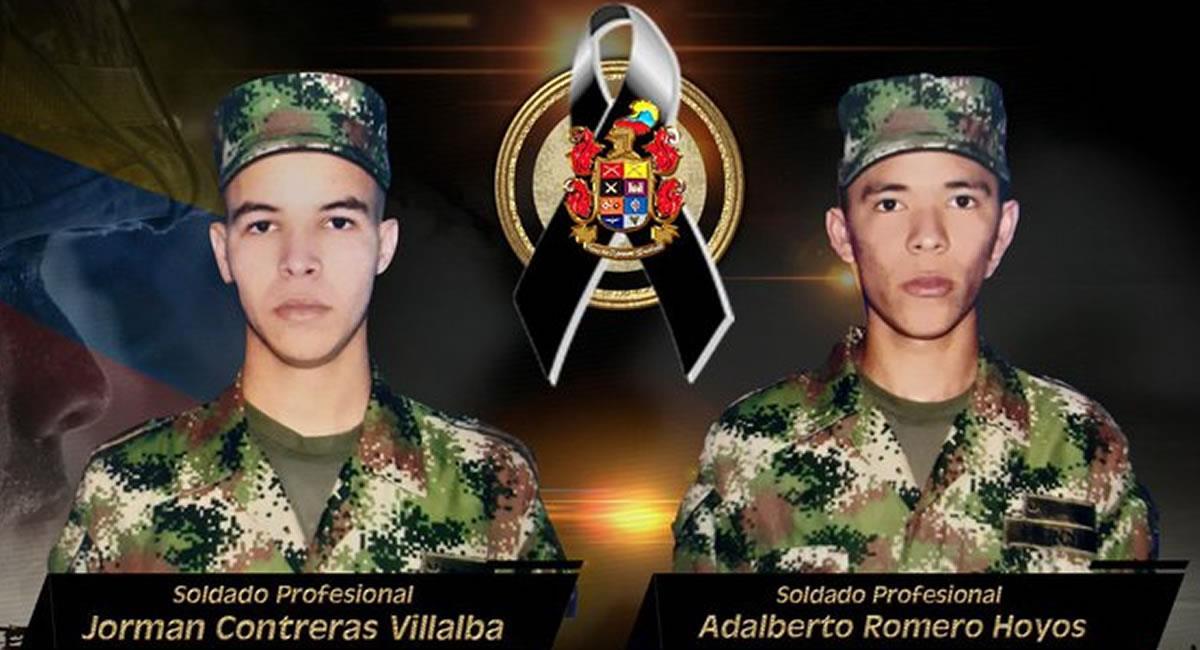 Los jóvenes soldados eran oriundos de Córdoba. Foto: Twitter @COMANDANTE_EJC