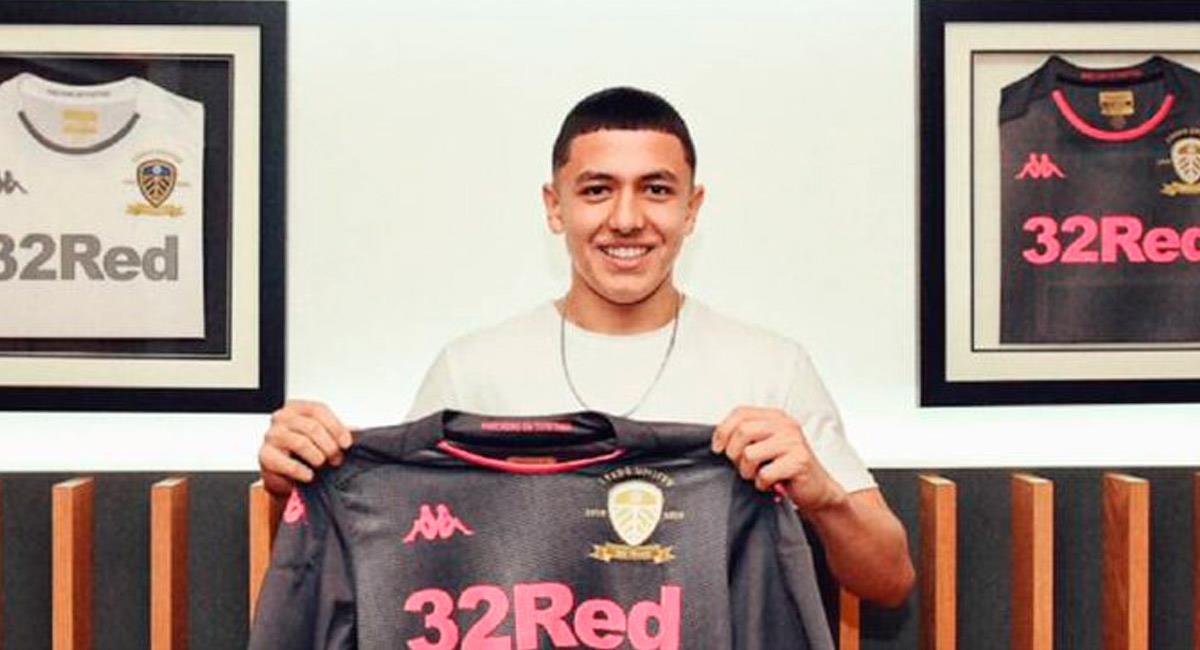 Ian Poveda, jugador colombiano de Leeds United. Foto: Prensa Leeds United
