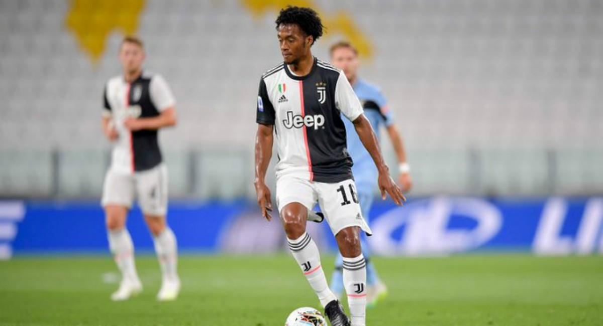 Cuadrado figura en Juventus. Foto: Twitter Prensa redes Juventus.