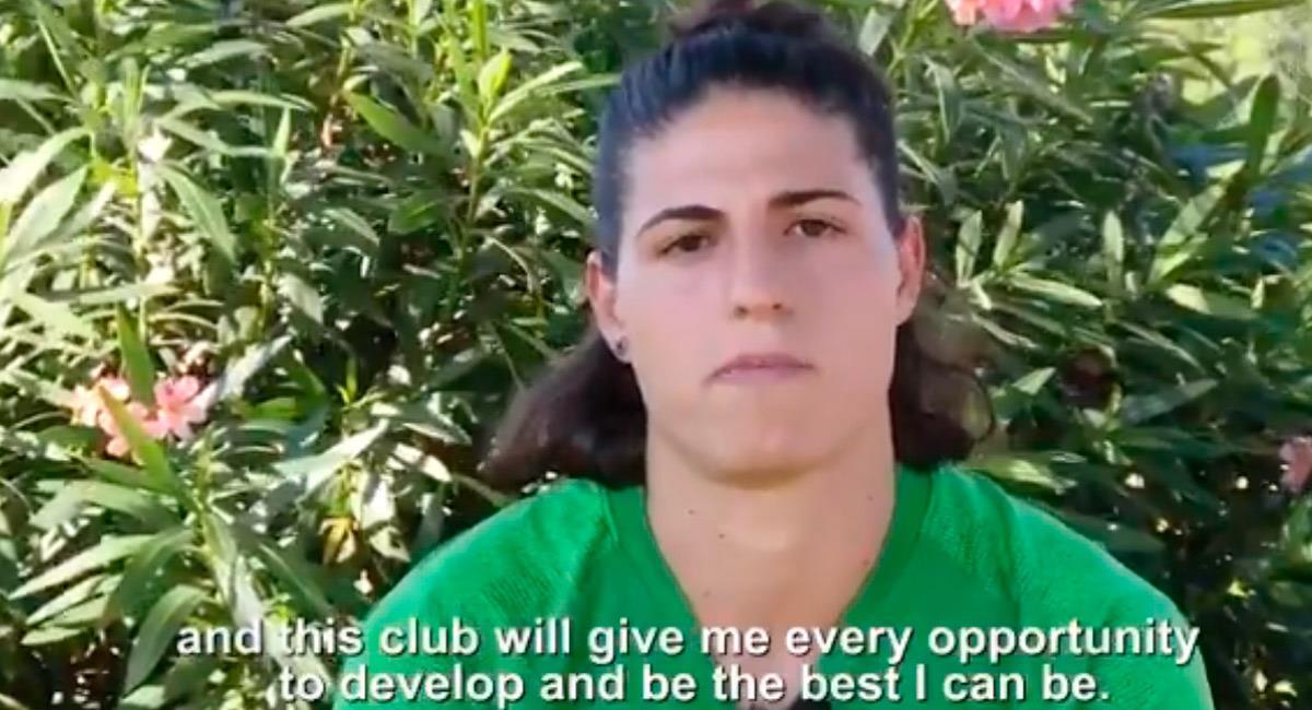 La jugadora Rachele Baldi tiene un parecido con James Rodríguez. Foto: Reproducción video twitter @ASRomaWomen