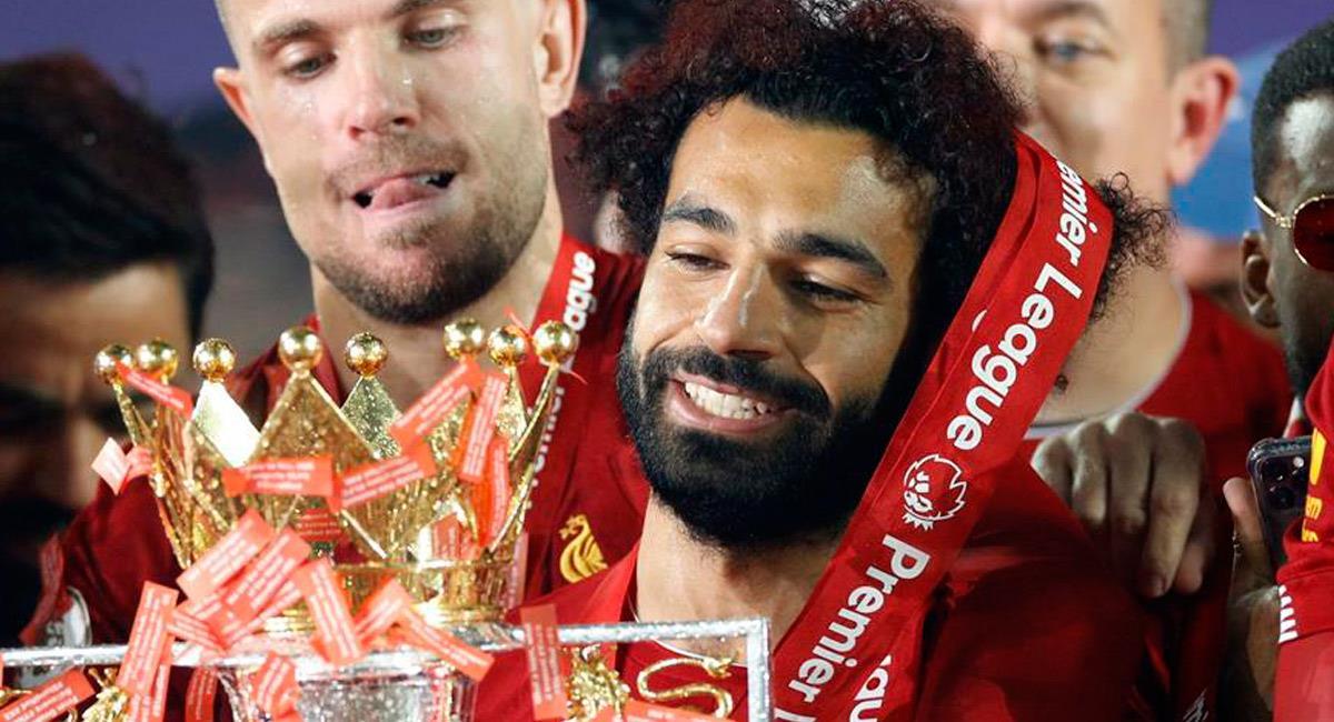 Mohamed Salah, campeón con Liverpool. Foto: EFE