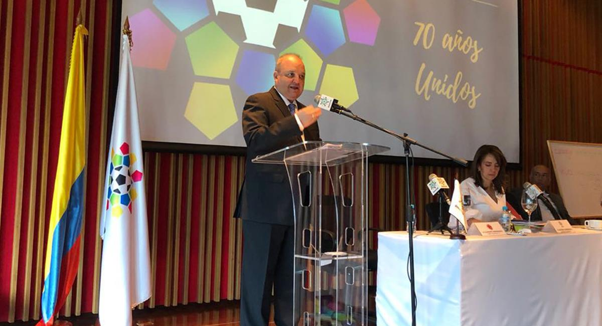 Jorge Enrique Vélez dejó de ser presidente de Dimayor. Foto: Twitter @Dimayor
