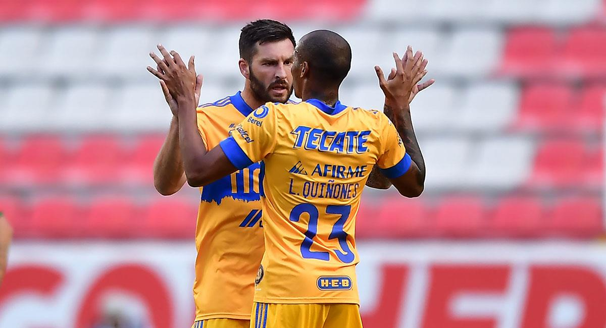 Luis Quiñones fue clave en el triunfo de Tigres ante Necaxa. Foto: Twitter @TigresOficial