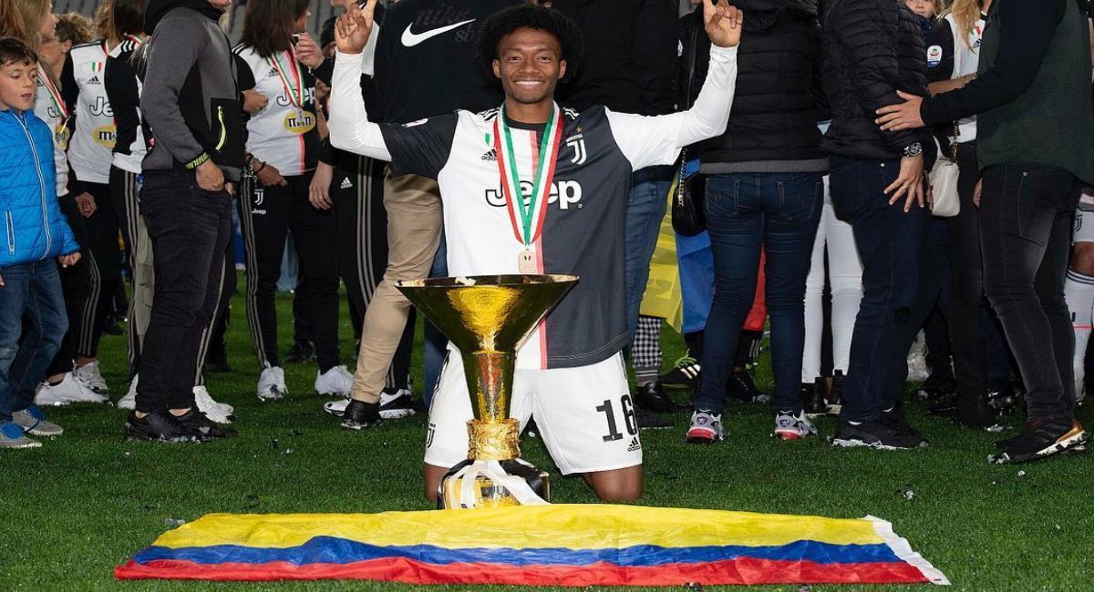 Cuadrado campeón con Juventus. Foto: Instagram Prensa redes Juan Cuadrado.