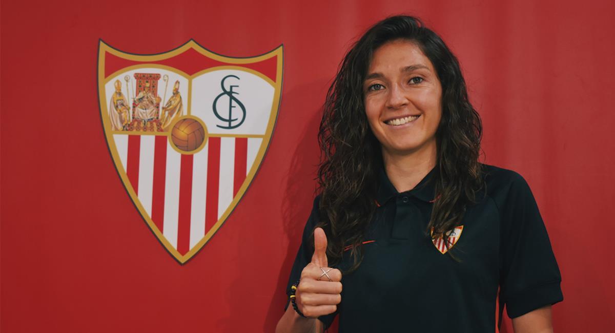 Natalia Gaitán lleva cinco años jugando en la Liga de España. Foto: Twitter @SevillaFC_Fem