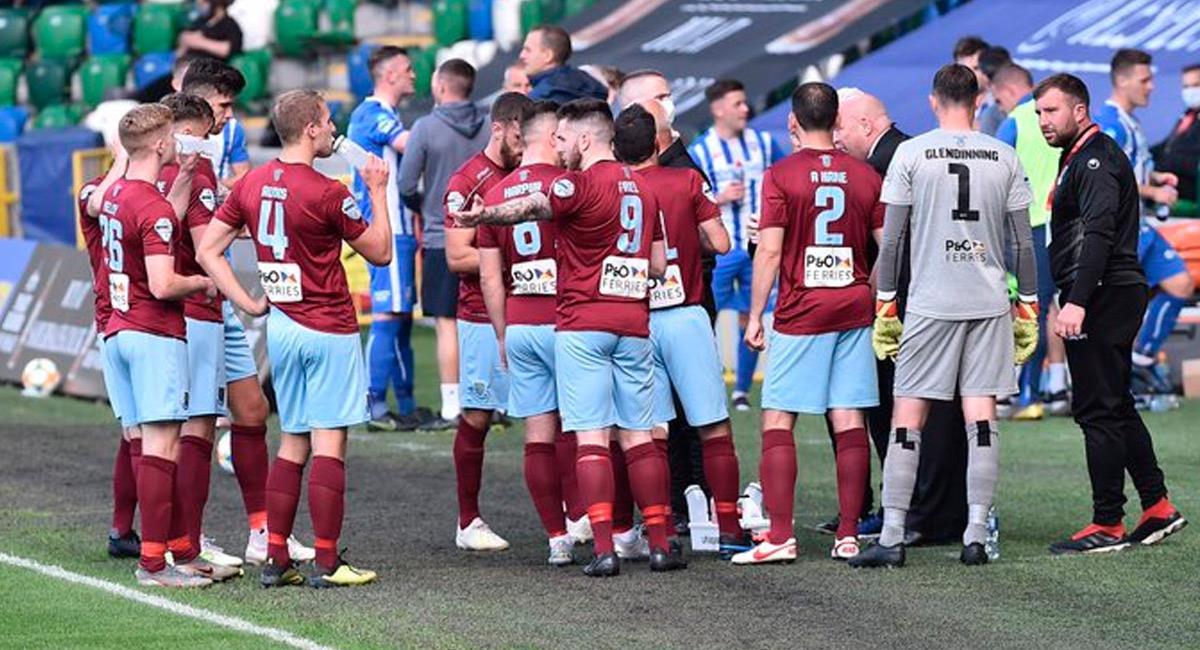 Coleraine, equipo donde milita el jugador Eoin Bradley. Foto: Twitter @ColeraineFC