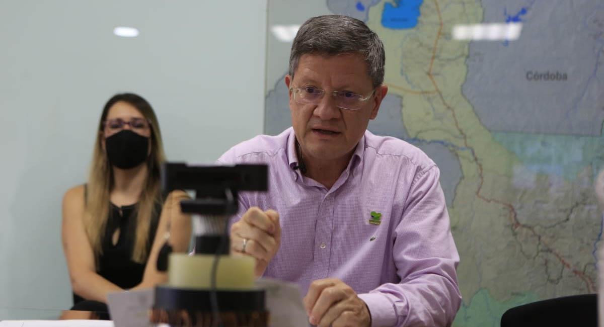 Luis Fernando Suárez, gobernador encargado de Antioquia. Foto: Twitter / @LuisFSuarezV