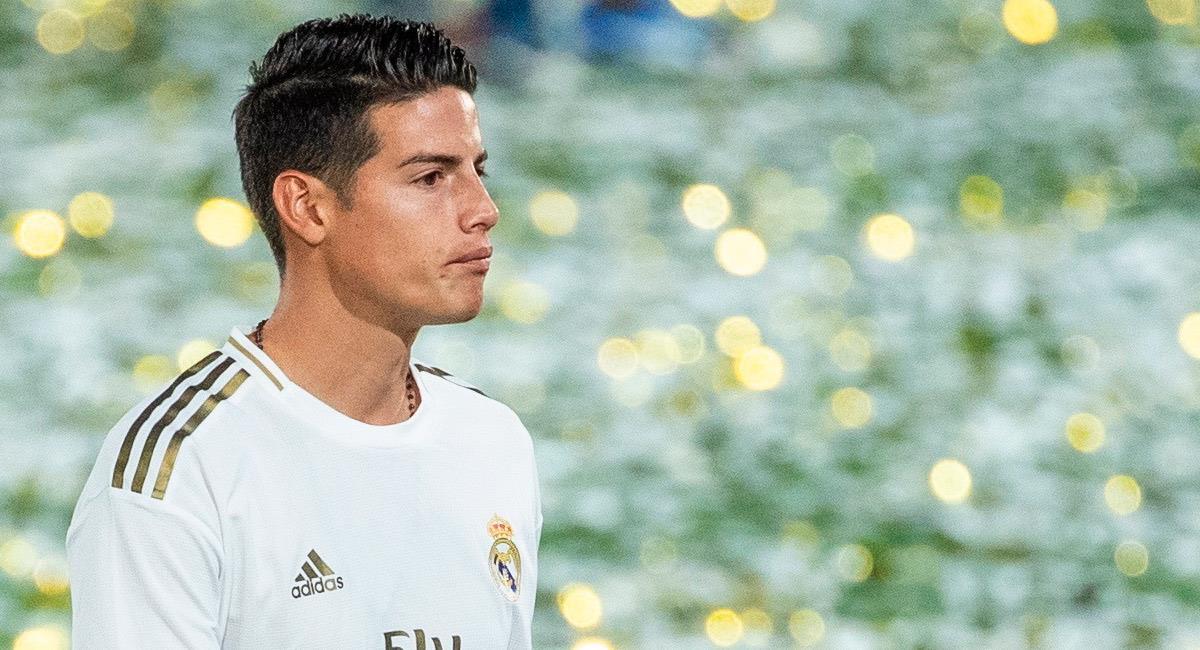 James Rodríguez, jugador de Real Madrid. Foto: EFE