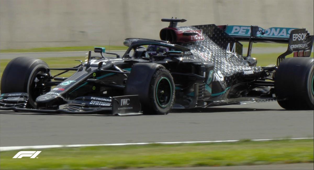 Lewis Hamilton ganó pinchado en la Fórmula Uno. Foto: Twitter prensa redes F1