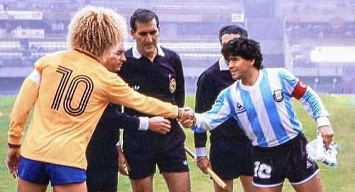 Mensaje del 'Pibe' a Maradona. Foto: Instagram Prensa redes Carlos Valderrama.