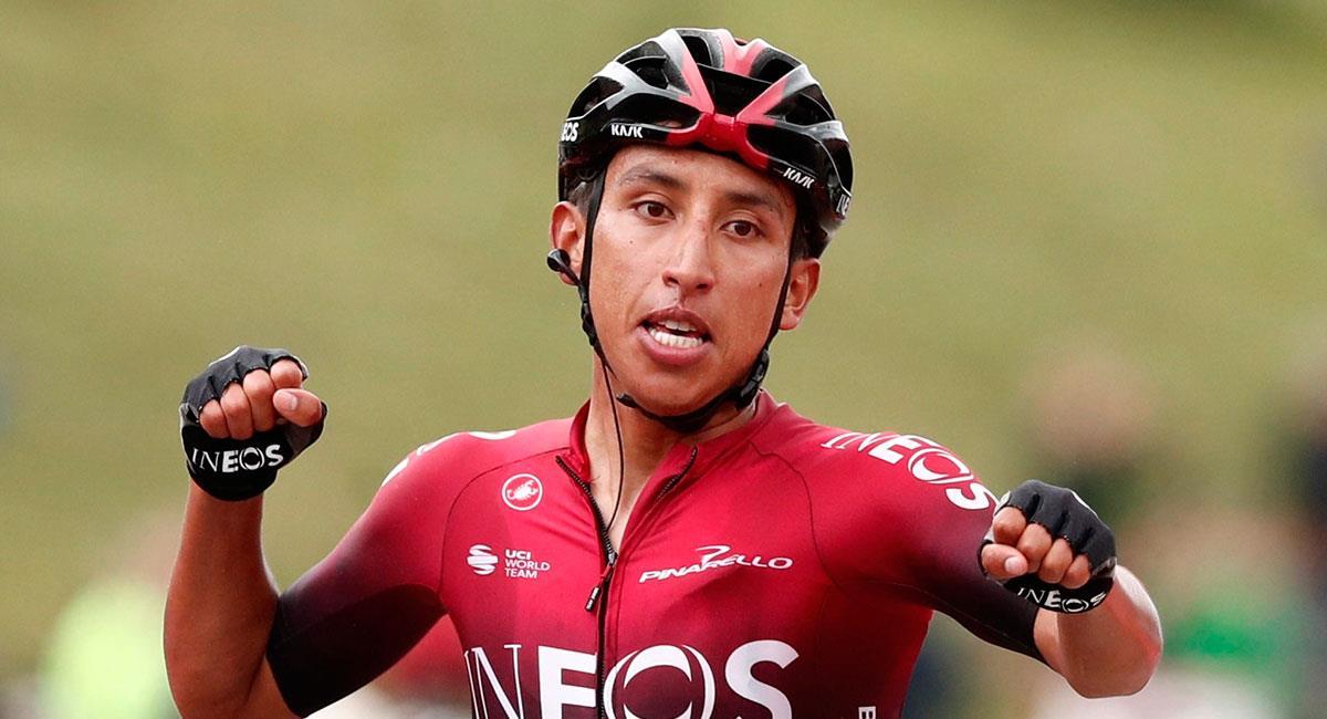 Egan Bernal espera defender su título de campeón en el Tour de Francia. Foto: EFE