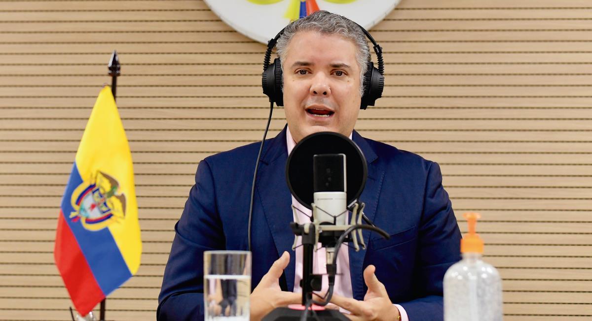 Iván Duque defendió a Álvaro Uribe. Foto: Twitter @infopresidencia