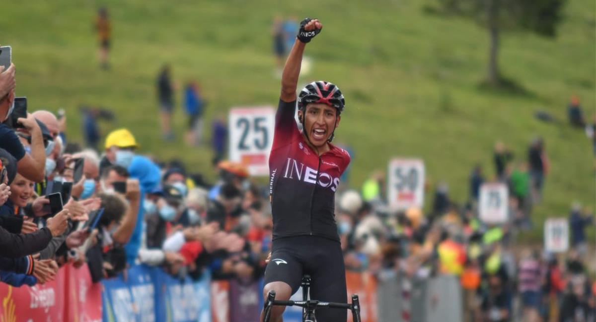 Egan Bernal ganó la tercera etapa de la Ruta de Occitania. Foto: Twitter @RouteOccitanie