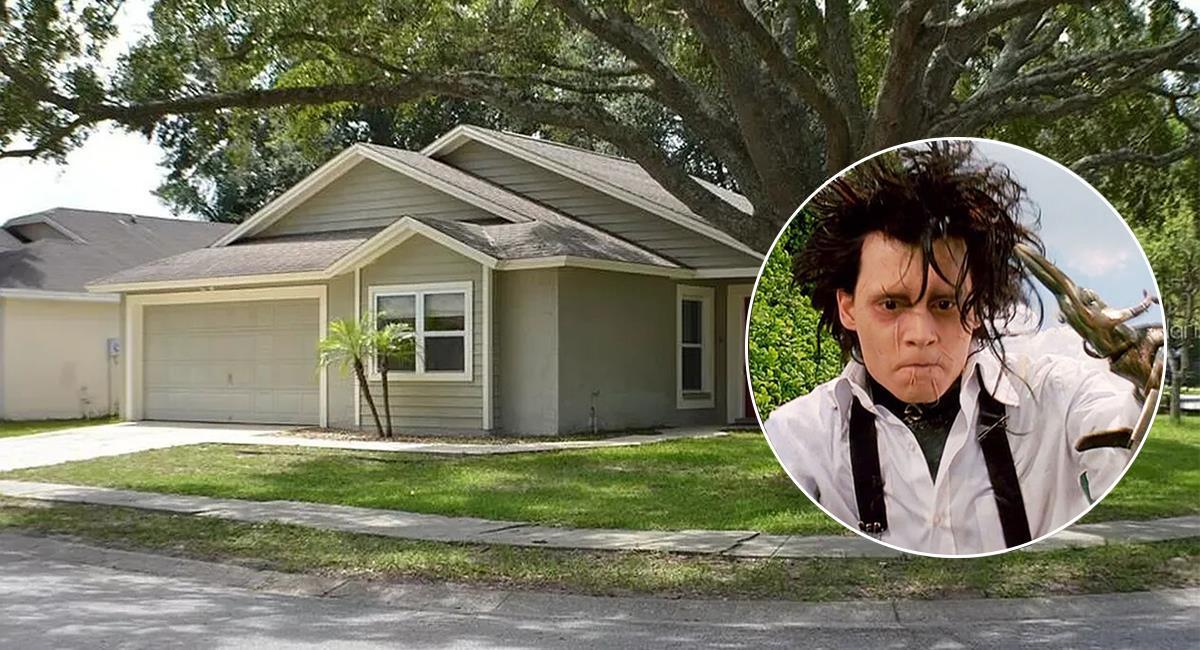 La casa de la famosa película de Tim Burton está ubicada en Florida, Estados Unidos. Foto: EFE /Twitter @CINEMAVISION2