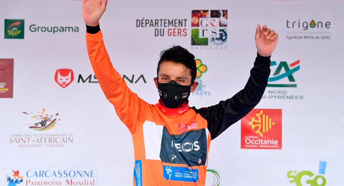 Egan Bernal es campeón de la Ruta de Occitania. Foto: Prensa Team INEOS