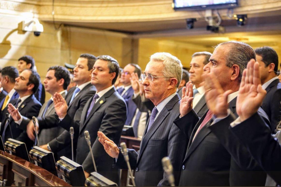Uribe tiene varias investigaciones en su contra. Foto: Twitter Centro Democrático