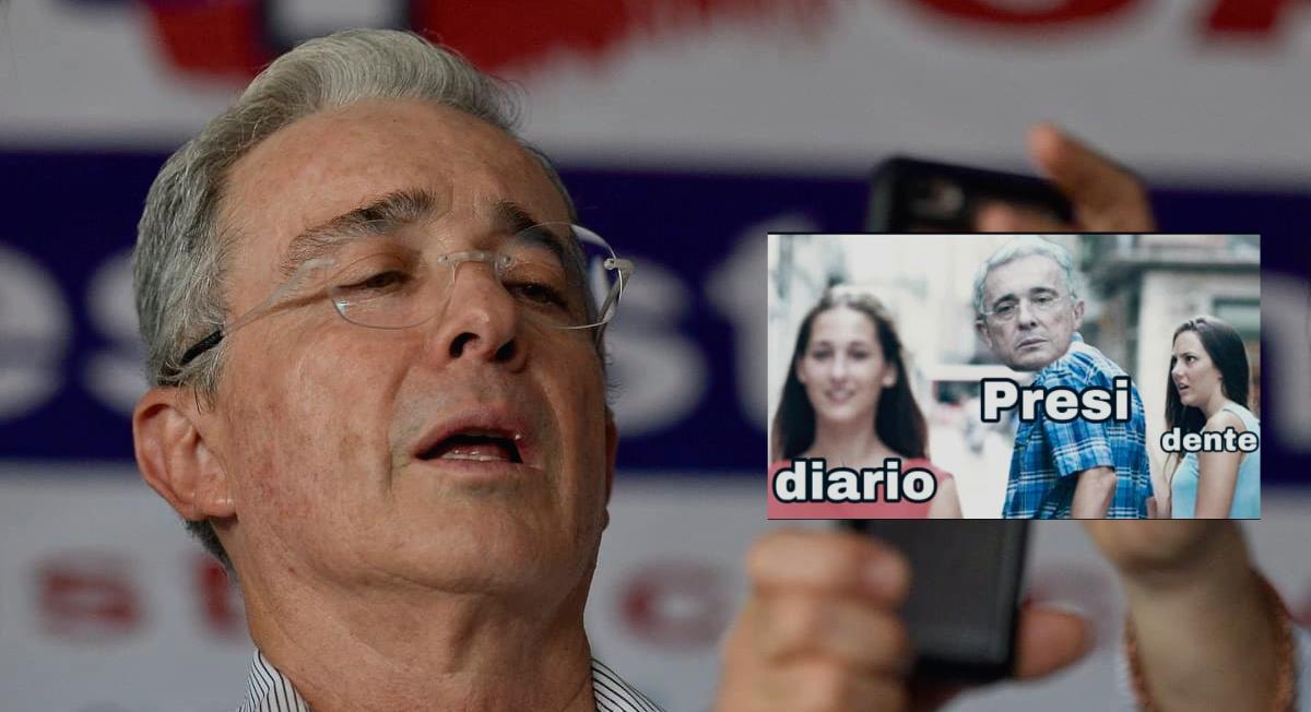 Los memes por la detención de Uribe no se hicieron esperar. Foto: Twitter @SimonMonsalve3
