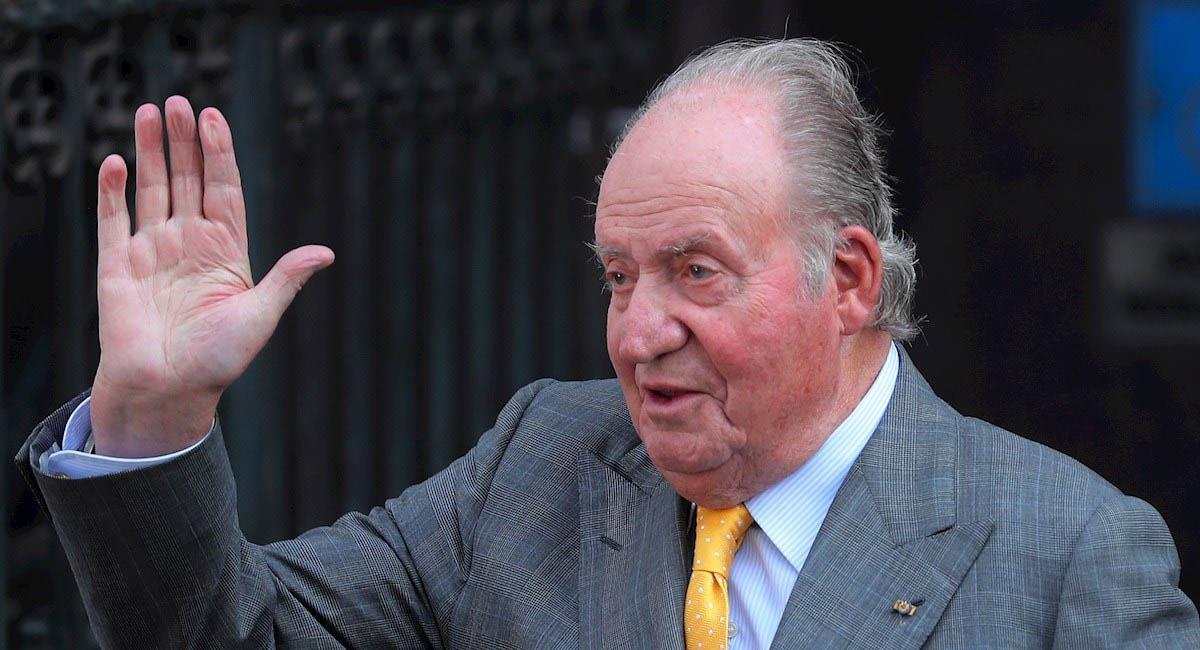 Rey emérito de España, Juan Carlos I, durante una visita a Chile, en 2018. Foto: EFE